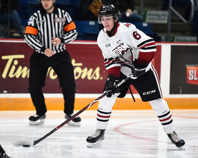 Ryan Merkley of the Guelph Storm. Photo by Aaron Bell/OHL Images